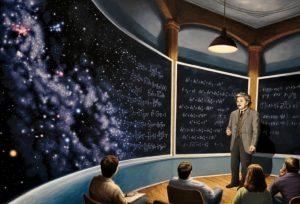 Chalkboard Universe by Rob Gonsalves