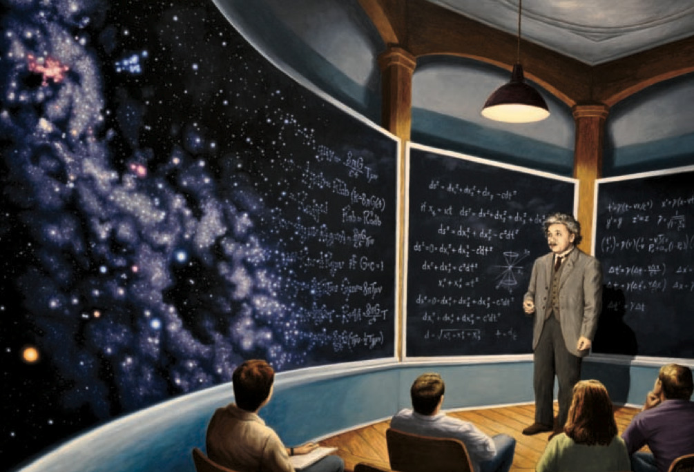 Chalkboard Universe by Rob Gonsalves