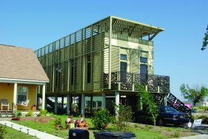 Photo: Chris Zulinov Hurrican Katrina house rebuilding elevated