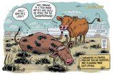 Footprint in Mouth editorial cartoon by Gareth Lind A\J AlternativesJournal.ca