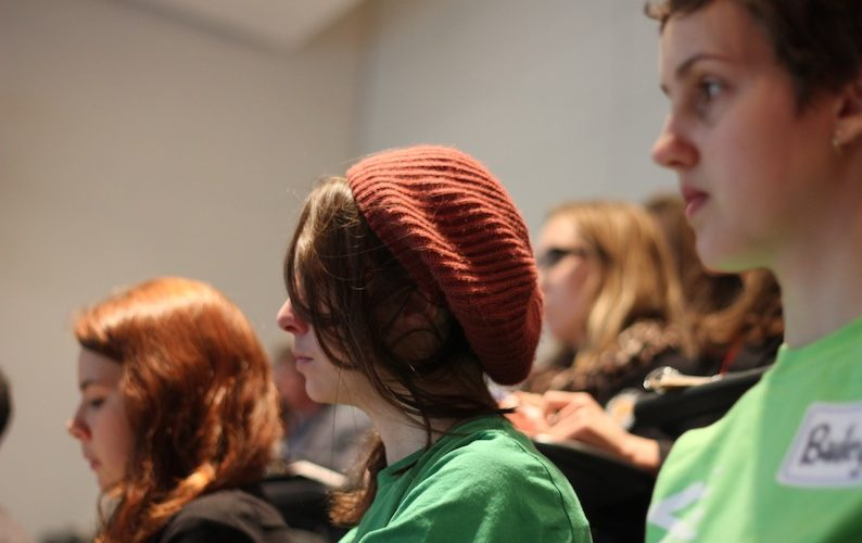 students at international development conference A\J Alternatives Journal