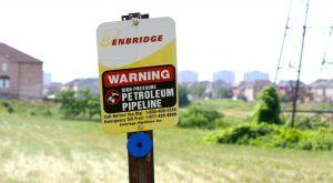 Enbridge line 9 pipeline marker A\J AlternativesJournal.ca