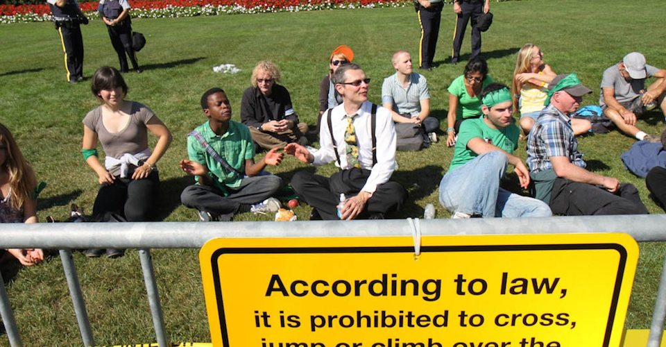 Over 100 people were arrested at an anti-tar sands action in Ottawa Sept 26
