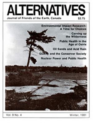 Oil Sands, Acid Rain, Nuclear Power Alternatives Journal  9.4