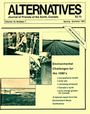 Environmental Challenges for the 1980's Alternatives Journal 10.1