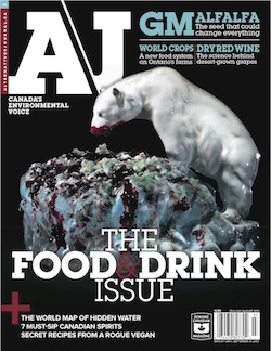 A\J Food & Drink cover featuring Klaus Pichler
