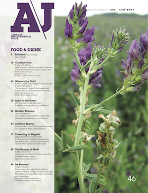 A\J Food & Drink issue table of contents page 1 alfalfa