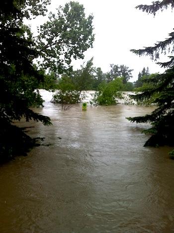 Flooding in Calgary, June 2013.