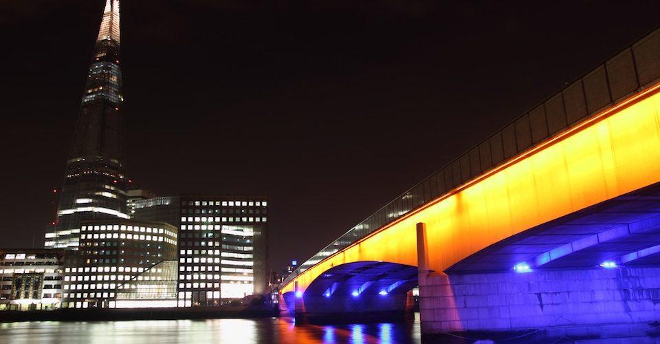 Shard and London Bridge at night A\J AlternativesJournal.ca
