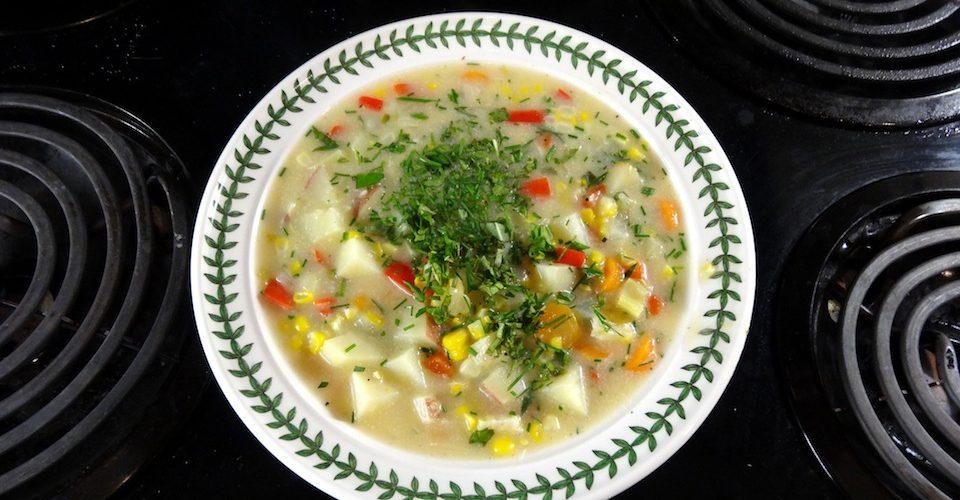 corn chowder recipe A\J AlternativesJournal.ca