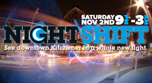 NIGHT\SHIFT, November 2, 9pm to 3am. Presented by A\J.