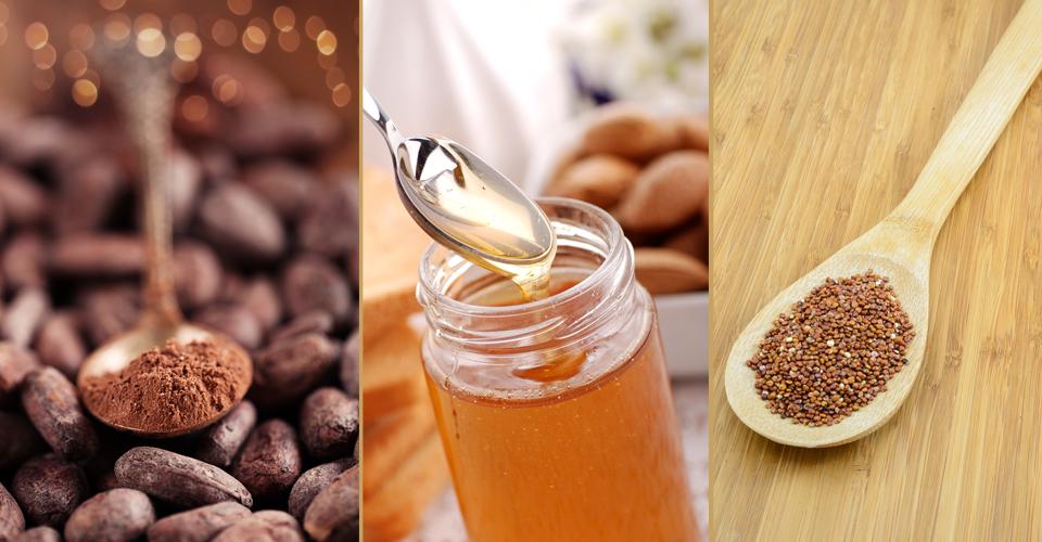 cacao honey quinoa healthy food swaps A\J AlternativesJournal.ca