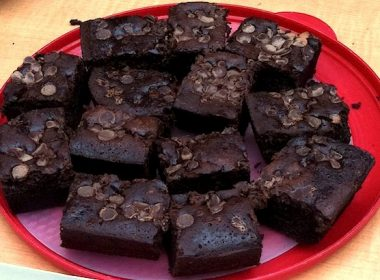 A\J's famous beer brownies, made by publisher Marcia Ruby.