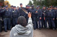 APTN photo of Elsipogtog fracking standoff in New Brunswick.