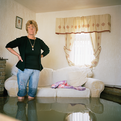 Margaret Clegg, Toll Bar Village near Doncaster, UK  (from Drowning World series