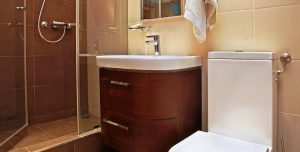 Remodelling a small bathroom to save energy and resources.
