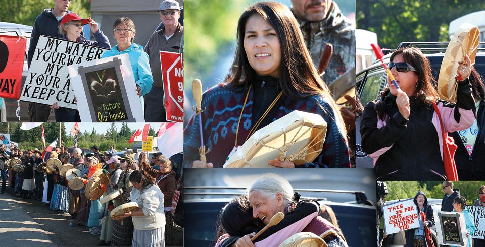 Fracking protestors in New Brunswick.