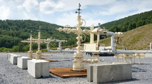A shale gas well in Pennsylvania