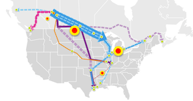 Major North American Crude Oil and Dilbit Pipelines.