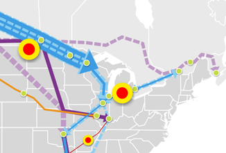 Major North American Crude Oil & Dilbit Pipelines