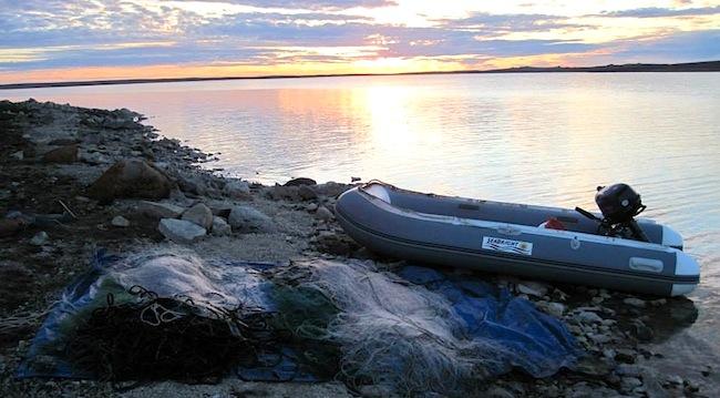An Arctic sunset. Nunavut.