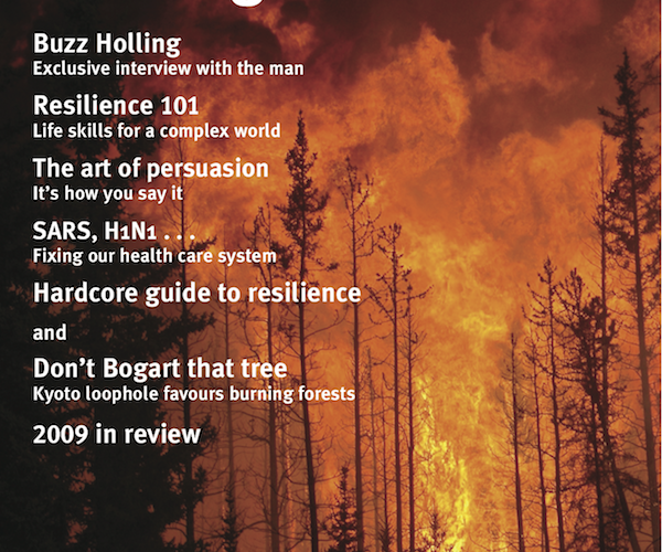 Alternatives Journal issue cover –Building Resilience 36.2