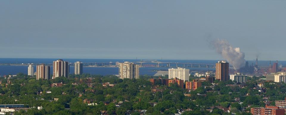 The Hamilton skyline from the escarpment.
