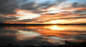 Sunset over the Mackenzie River