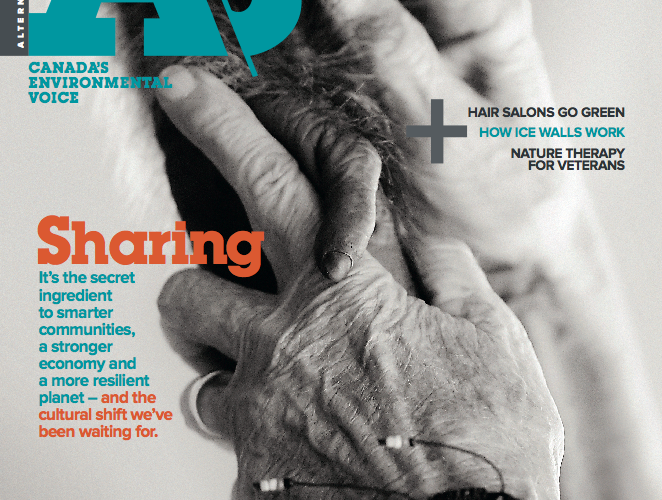 Cover of the A\J Sharing issue on the sharing economy, April 2014