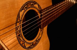 A sustainable guitar from Jedidiah's Planet Saving Guitars.