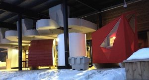 Laurentian University Architecture ice fishing huts project