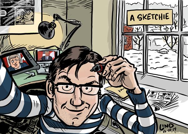 Gareth Lind, cartoonist.
