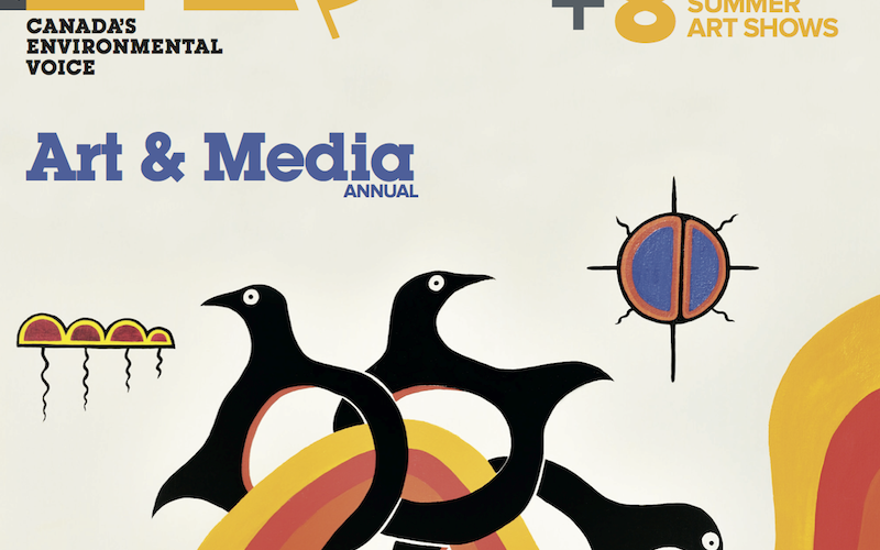 Cover of the third annual A\J Art & Media issue