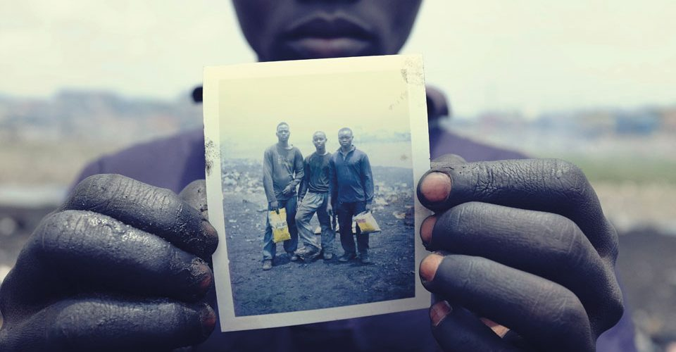 Pieter Adongo, 17, at the Agbogbloshie e-waste dumping grounds.