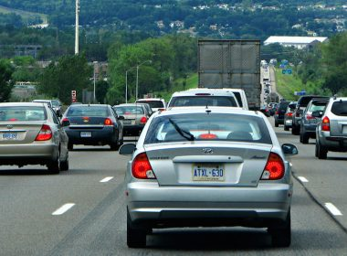 Traffic in Barrie, Ontario