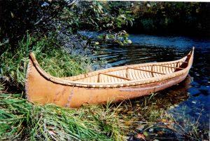 Abenaki-style birchbark canoe made by Tom Byers.
