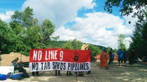 No Line 9 protest in North Dumfries, Haudenosaunee territory