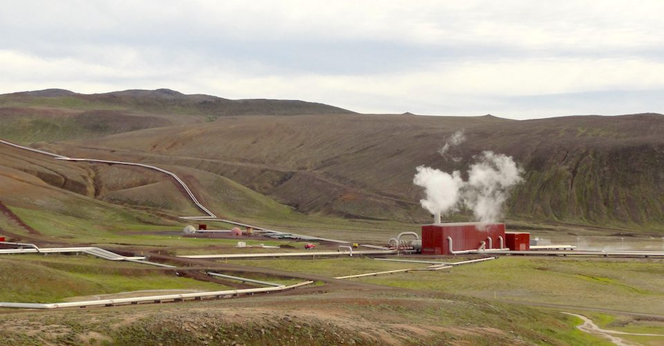 60 MW geothermal power plant in Iceland.