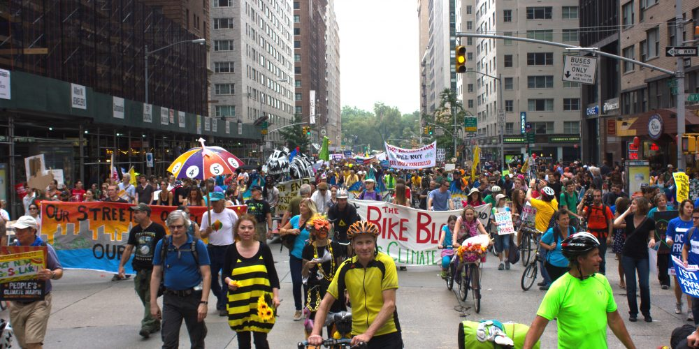 The People's Climate March in New York City.