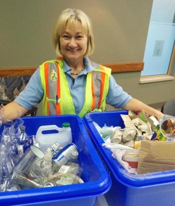 Region of Waterloo staff recycling expert Kathleen Barsoum
