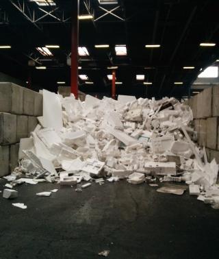 The styrofoam pile