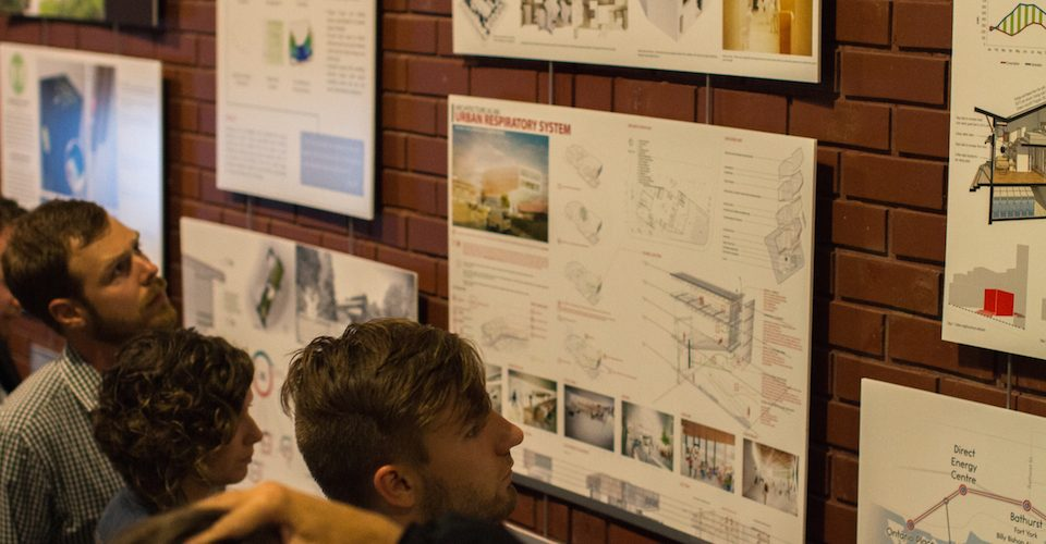 Winning projects on display at the Sustainable Design Awards.