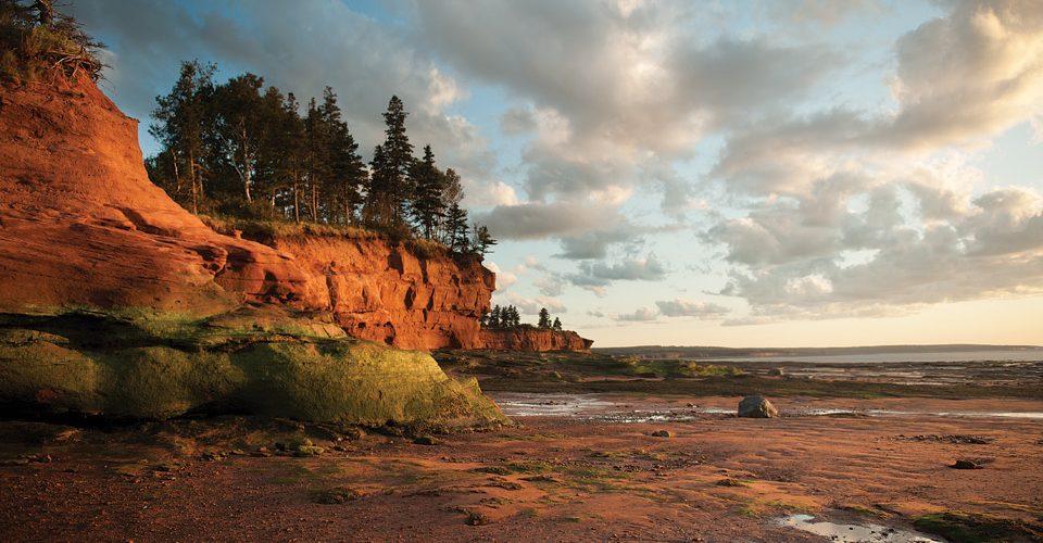 The tides at Burncoat Head in Nova Scotia's Minas Basin