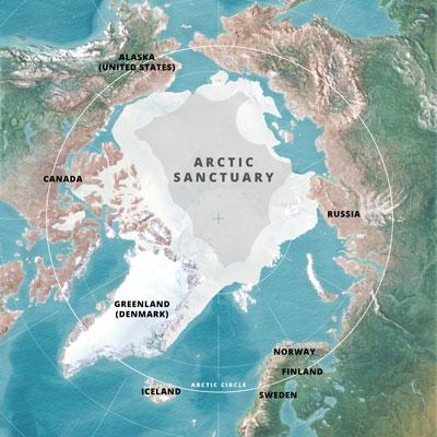 Greenpeace Arctic Sanctuary Map