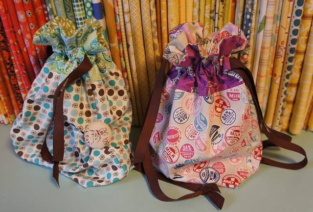 handmade drawstring bags