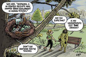 A\J Editorial Cartoon by Gareth Lind: HazMaternity