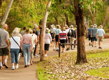 Seniors on a walk