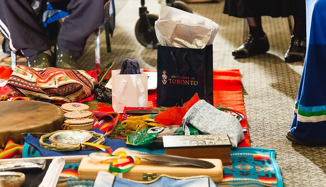 An array of traditional ceremony items.