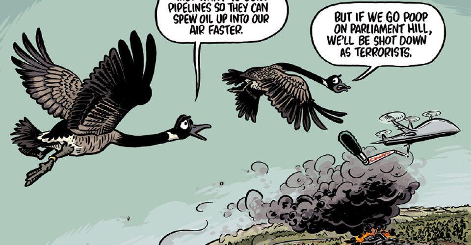 A\J Editorial Cartoon by Gareth Lind: Terrorists