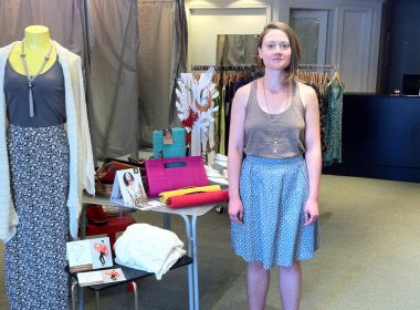 Melissa Stieber of More Than Half clothing in Kitchener, Canada